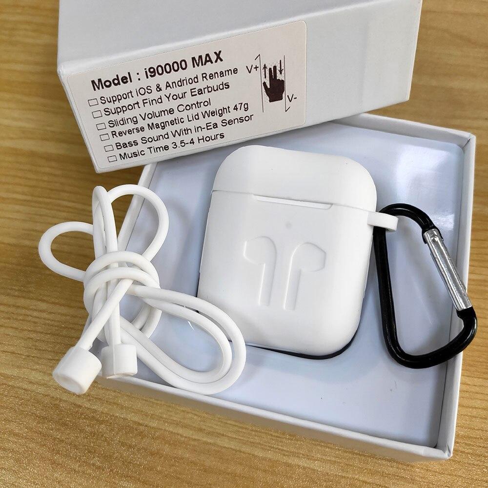 I90000 MAX TWS Drahtlose Kopfhörer Mit Air 2 Umbenennen Bluetooth 5,0 Kopfhörer Super Bass Ohrhörer Volumen Control PK i5000 i9000 TWS