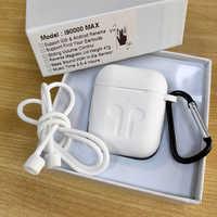 I90000 MAX TWS bezprzewodowe słuchawki z powietrzem 2 zmień nazwę Bluetooth 5.0 słuchawki słuchawki douszne super bass regulacja głośności PK i5000 i9000 TWS