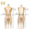 FZD 1 Set Lijfjes patch sequin naaien strass applique kralen voor bruiloft avondjurk ijzer op patches voor kleding