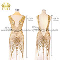 FZD 1 Set de parches de lentejuelas para coser apliques de diamantes de imitación para boda vestido de noche parches de hierro para ropa