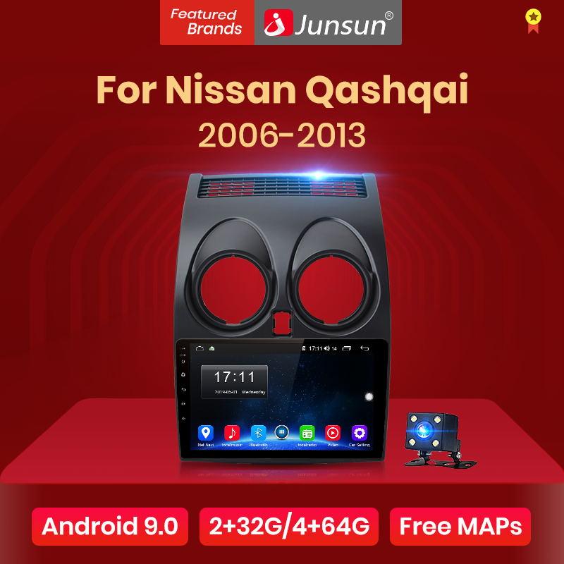 Junsun V1 pro 4G 64G CarPlay Android 9 0 DSP For Nissan Qashqai 2006-2013 J10 Car Radio Multimedia Video Player Navigation GPS