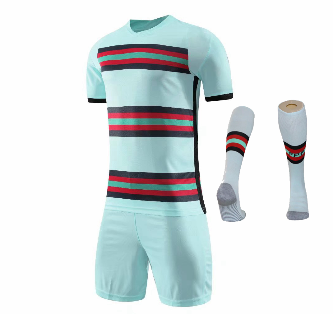 Children Sets football uniforms boys and girls sports kids youth training suits blank custom print soccer set with socks 36