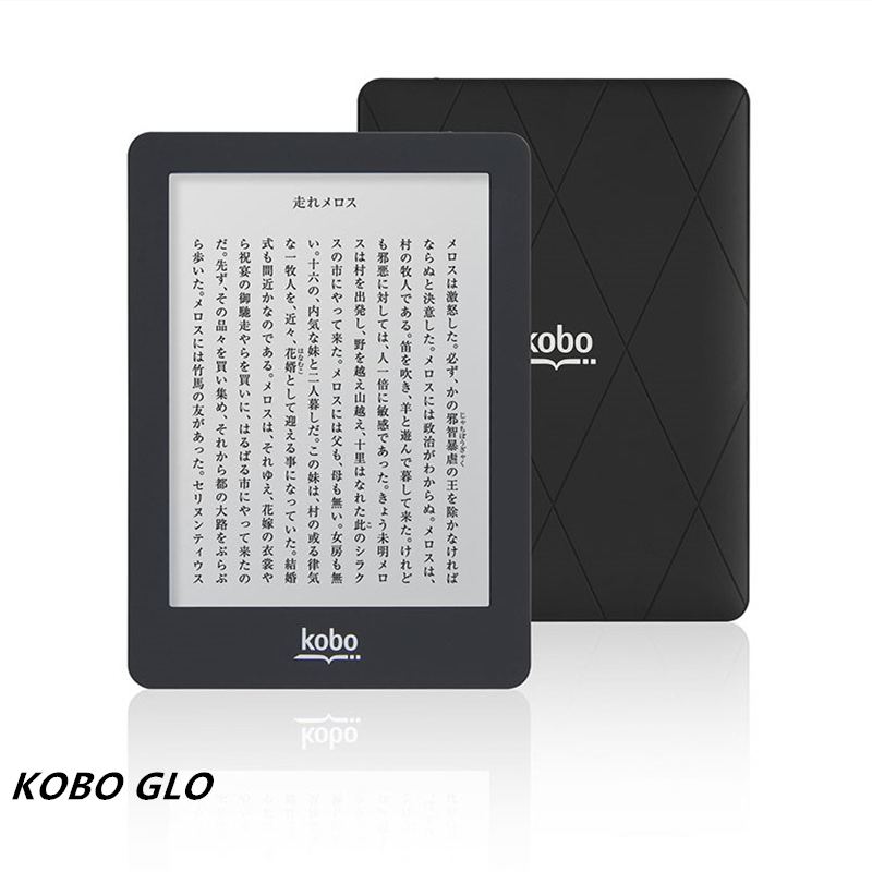 Ebook ereader kobo glo n613/glo hd 6 polegada 1024x768 2gb wifi e-book tela de toque e-ink leitor de livro frontal backlight
