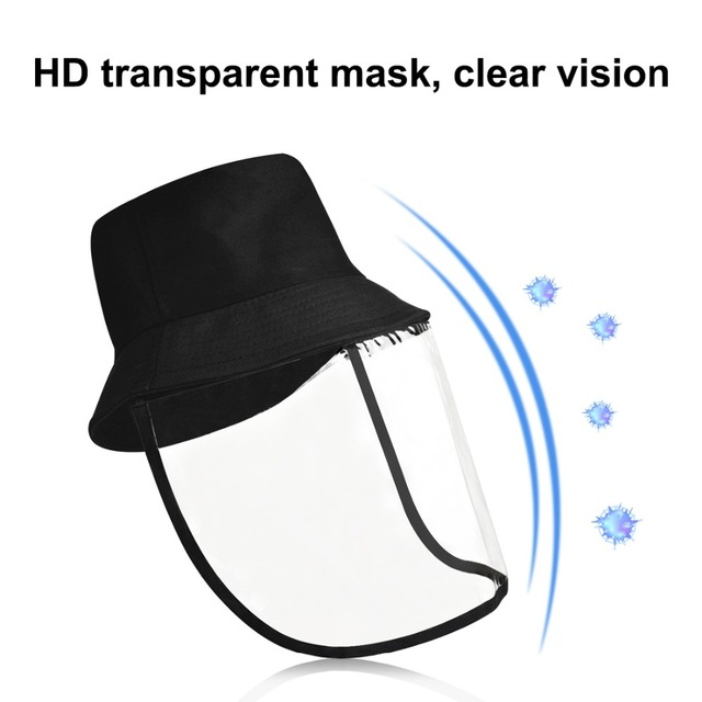 Outdoor protective cap & Anti-Saliva Splash Safety Face Shield Removable Full Face Cover Hat 1