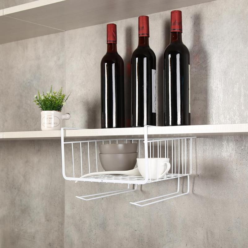 Getting  Kitchen Storage Basket Rack Hanging Cabinet Under Shelf Dish Cupboard Hanger Bathroom Organizer Hol
