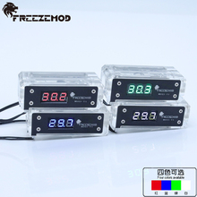 FREEZEMOD computer pc water cooler Digital thermometer with temperature sensor coloful digital.  WDXS T1