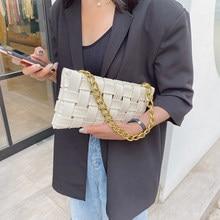 2020 pequeno couro do plutônio tecer designer crossbody sacos para as mulheres de luxo cor sólida bolsas ombro corrente crossbody saco do mensageiro