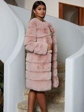 Большой пальто больших размеров с искусственным мехом теплая