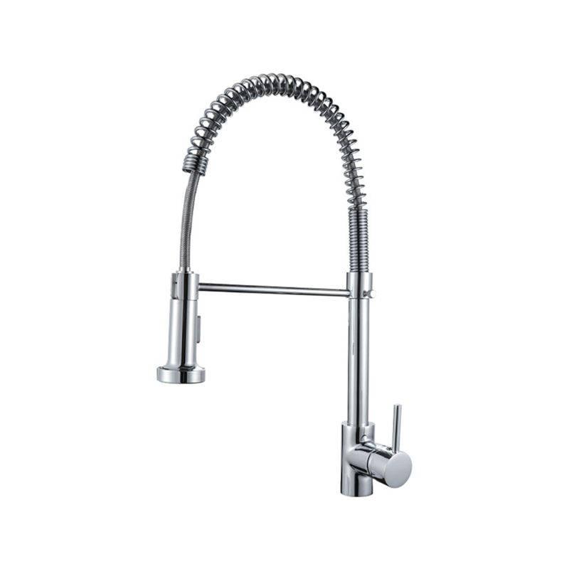 Copper Spring Kitchen Faucet Hot And Cold Multi-Function Mixing Valve Pull Dish Sink Faucet Bathroom