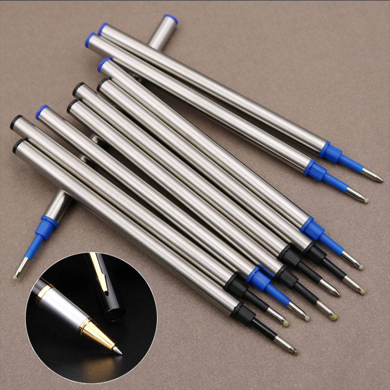 5 Pcs/lot Metal Refills 0.5mm For Roller Ballpoint Pen Business Pen Ball Pen Refills 11cm Length Office School Supply Stationery