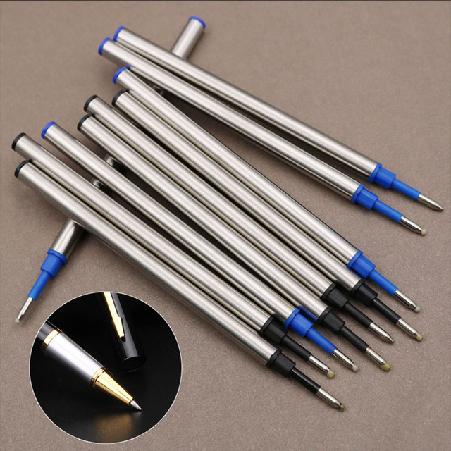 5 pcs/lot Metal Refills 0.5mm for Roller Ballpoint Pen Business Pen Ball Pen Refills 11cm Length Office School Supply Stationery