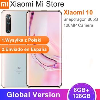 Global Version Xiaomi Mi 10 8GB 128GB Smartphone 5G Cellphone LPDDR5 USF 3.0 Snapdragon 865 Octa Core 6.67