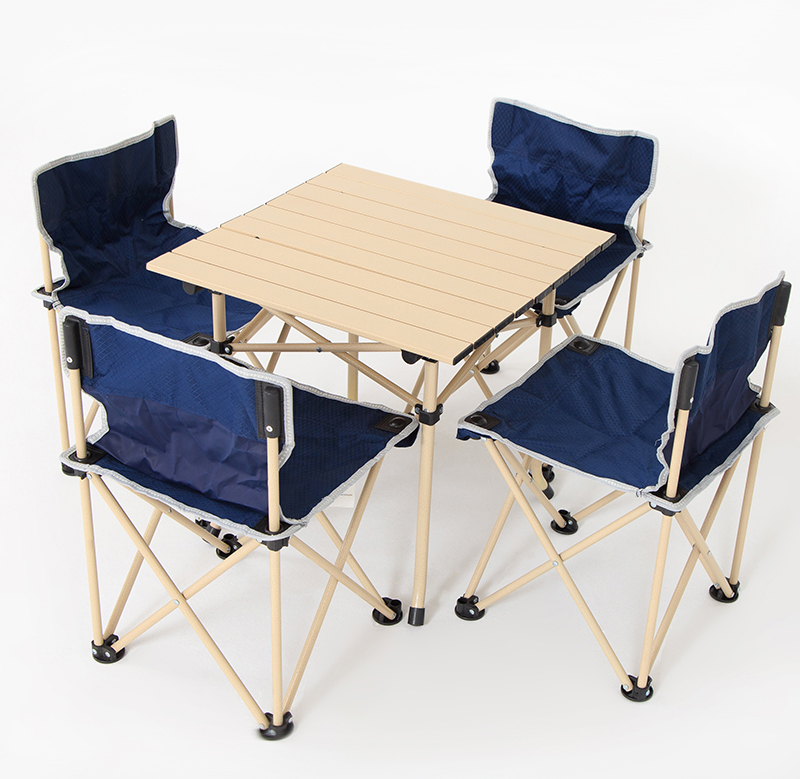 Outdoor Folding Table And Chair Set Outdoor Picnic Table And Chair Barbecue Camping Chair Self Driving Portable Table Aliexpress