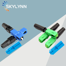 10PCS FTTH SC Fast Connector, UPC and APC Polished SC Embedded Quick Connector Field Assembly Adapter