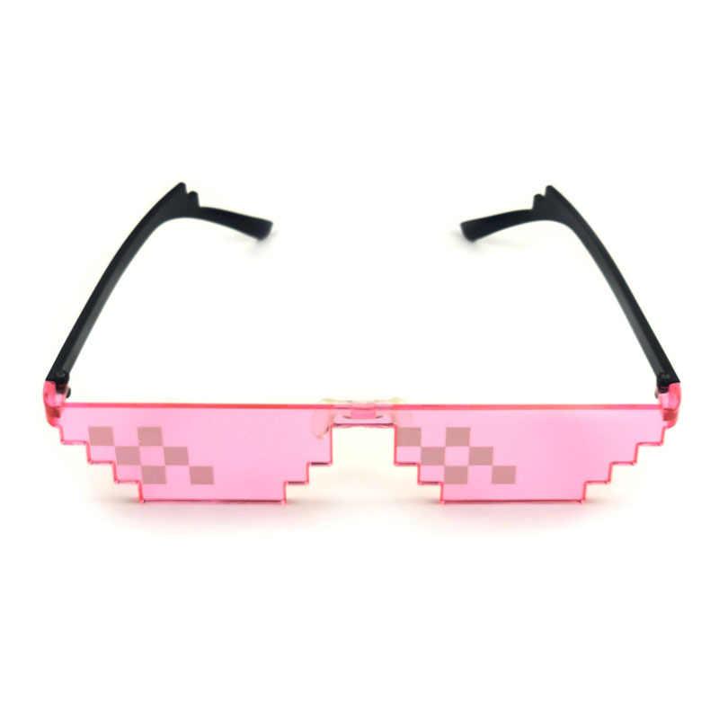 Gafas De Sol Thug Life Gafas De Fiesta Mosaico Gafas De Sol De P/íxel Gafas De Sol De Mosaico Gafas Pixeladas Para Carnaval Fiesta De Carnaval Cosplay Disfraz Halloween Cumplea/ños 6 Piezas