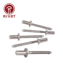 ISO 15974 M4.8/M6 Stainless Steel Blind Rivet Countersunk Head Closed End Breakstem Fasteners High Quality 100/500 Pcs iso 15974 m3 2 m4 stainless steel countersunk head closed end blind rivet sealed breakstem fasteners 100 500 pcs