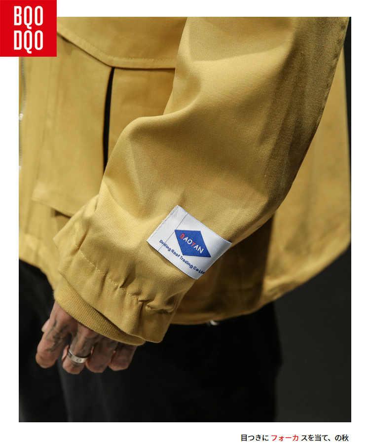 Желтая Модная хлопковая военная куртка в уличном стиле Мужская Черная куртка на молнии с буквенным принтом мужские зимние куртки с капюшоном Polit мужские куртки-бомберы