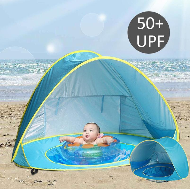 Sunshade Beach Baby Beach Tent Children Waterproof Pop Up Sun Awning Tent UV-protecting Sunshelter With Pool Kid Outdoor Camping