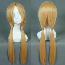 Wig-Cap Naruto Cosplay Yellow Tsunade Anime Long Hokage Synthetic-Hair Heat-Resistant