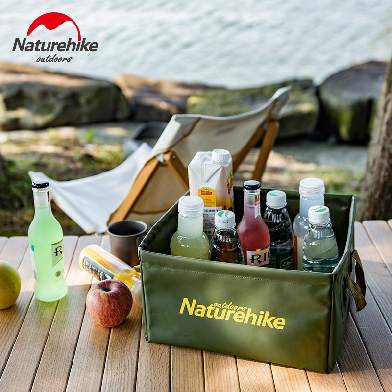 Naturehike 13L Folding Square Bucket Camping Wash Bucket Water Canister Large Capacity Home Travel Multi-function Storage Bucket