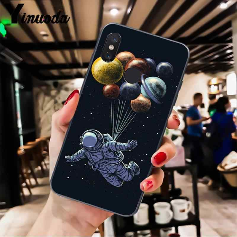 Yinuoda Space Love Moon Astronaut Colorful Cute Phone Case for XiaoMi MI 6 plus A2 8 LITE 8 8SE 9 9SE MIX2 Cellphones