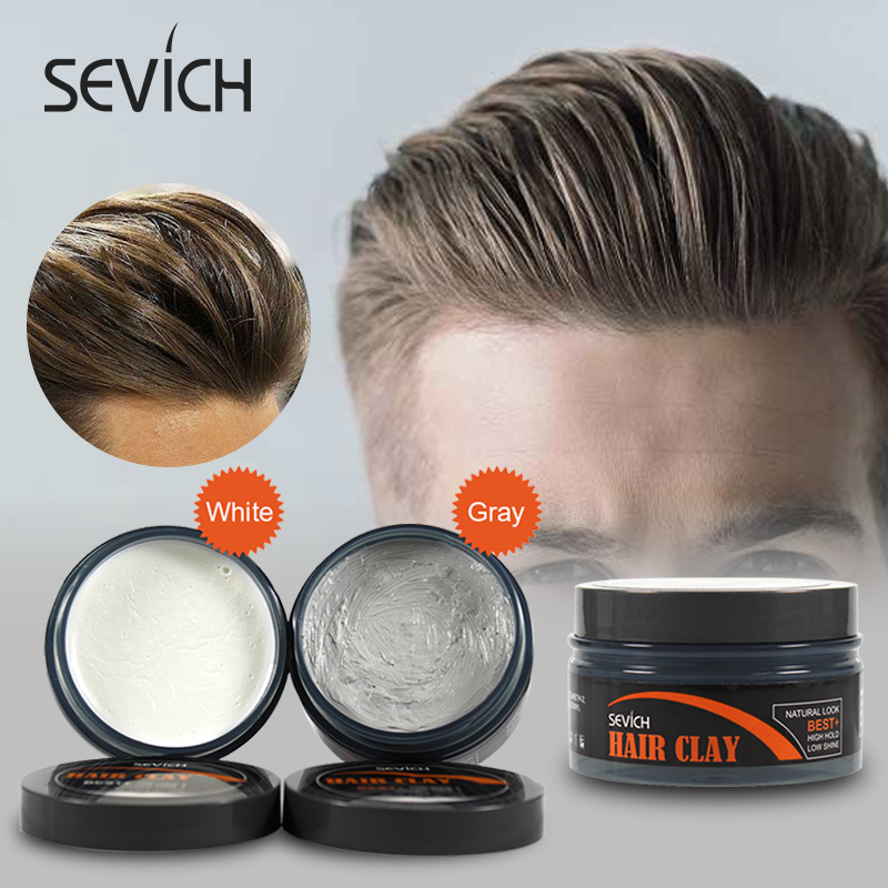 Sevich Hair Styling Clay Long-lasting Dry Stereotypes Type Clay 100g New Hair Wax Disposable Strong Modeling Mud Shape Hair Gel