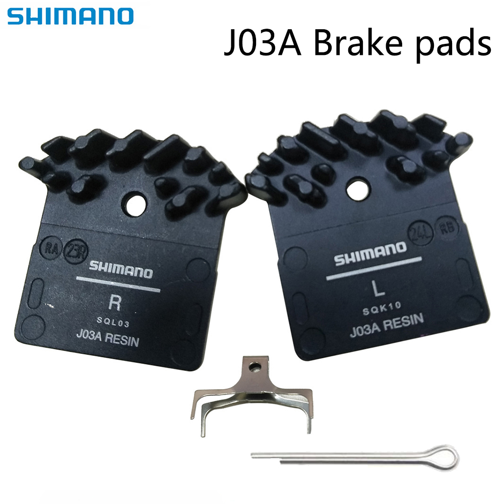 2 Pair Shimano H01A//H03A M820//M640//M8020  Resin Brake Pads  Cooling Fins Resin