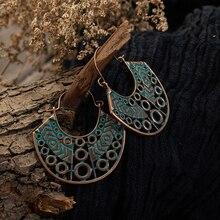 Vintage geometric Boho green Dangle Drop Earrings for Women fashion earrings cc 2019 Indian Wedding bride Jewelry Accessories