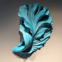 Simple Modern 3D Luxurious Rumble Fish Wall Decoration Resin Crafts Decor Wall Ornament Wall Hanging Mural Accessories R2761
