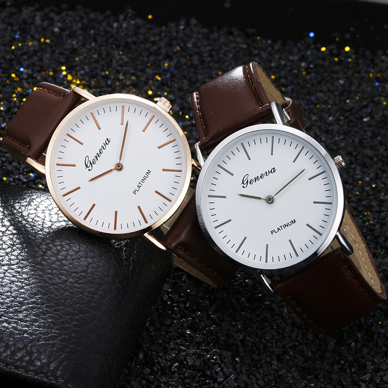 Belt Wrist Watch Two Needle Man Wrist Watch Ma'am Wrist Watch Student Quartz Watch