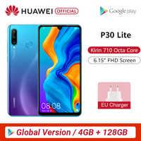 Wersja globalna Huawei P30 Lite 4GB 128GB Smartphone 6.15 cal Kirin 710 octa core telefon komórkowy EMUI Android 9.0 telefon komórkowy