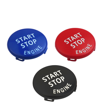START Stop Engine Button Replace Cove for BMW X1 X5 E70 X6 E71 Z4 E89 3 5 Series E90 E91 E60 Key Decor Ring Trim Cap Switch Kit image