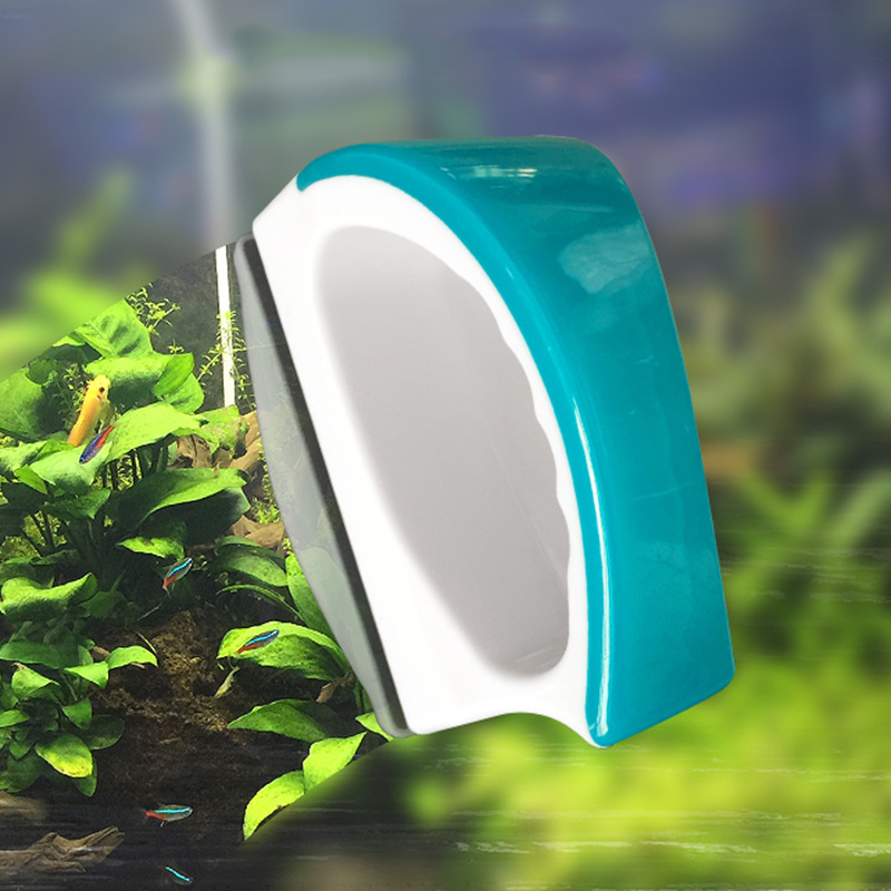 Magnetic Aquarium Cleaning Brush and Floating Algae Scraper to Clean Algae from Glass of Fish Tank