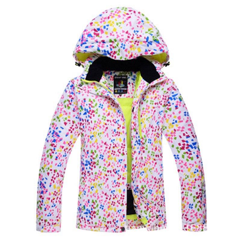 Nouveaux vêtements de ski pour femmes résistant à l'usure en plein air coupe-vent imperméable résistant au froid veste légère