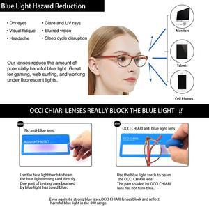 Image 5 - Occi Chiari Clear Glazen Frame Voor Meisjes Kind Kid Anti Blauw Licht Brillen Merk Designer Acetaat Computer Eyewear W CANZI