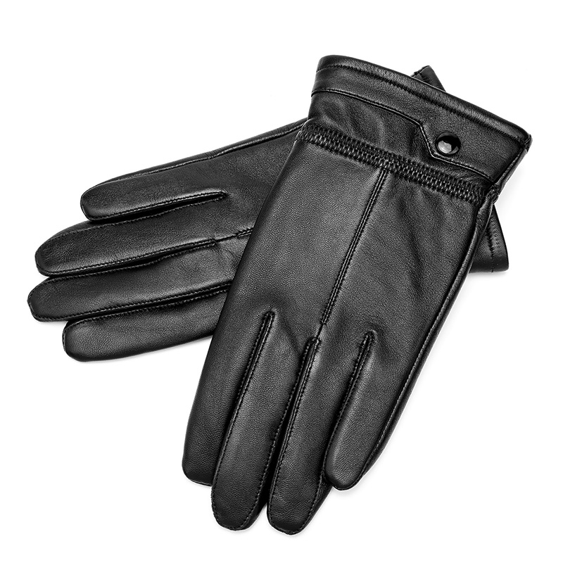 Mens Lady Warm Touch Screen Winter Thermal Genuine Real Leather Driving Glove E