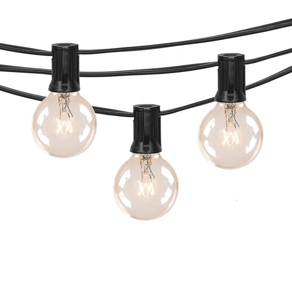 Lantern Outdoor Waterproof Light String Leads To Wedding Decoration Lights Garden Bulb String Lights Lustre Pendente