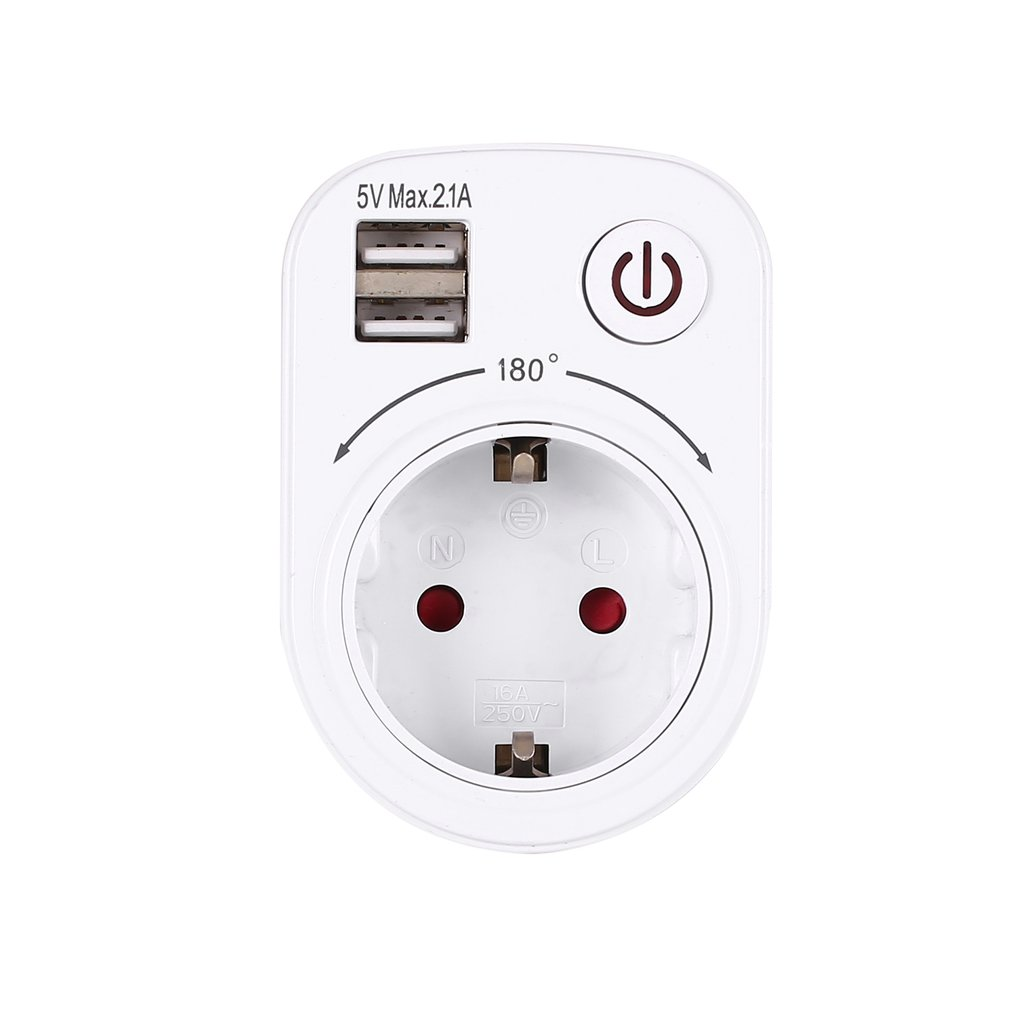 Enchufe inteligente de la UE de Adaptador Dual de cargador USB eléctrico de 5V 2.1A enchufe de pared enchufe de carga toma de corriente para viaje en casa Cable de alimentación de referencia dorada de CARDAS OFC, Cable de alimentación EU Schuko AC, Figura 8 Oyaide P-079E/P-079/C-079, conector MK Vinshle