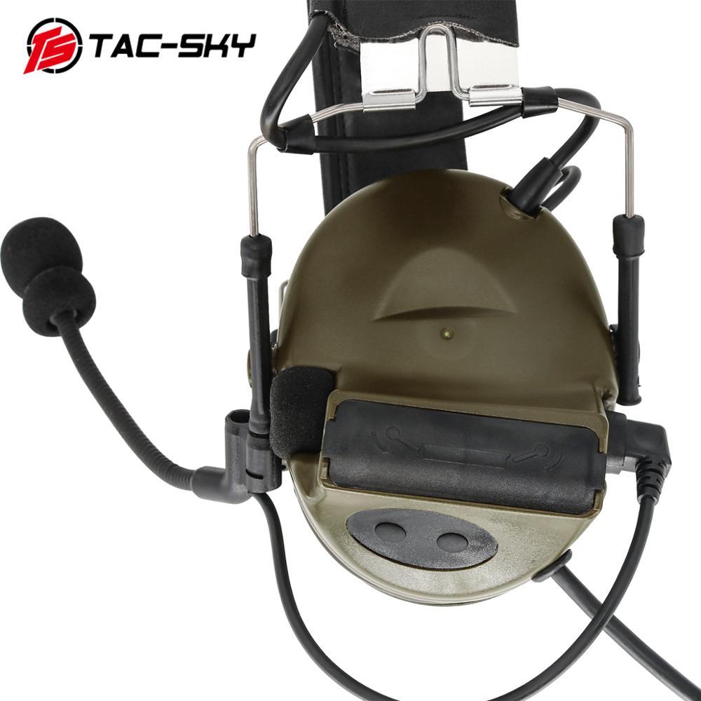 COMTAC II TAC-SKY Comtac Ii Silicone Earmuffs Hearing Defense Noise Reduction Pickup Military Tactical Headset FG