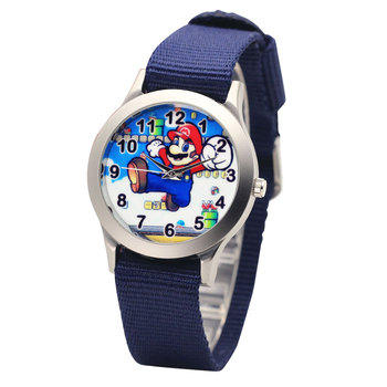 Anime de Japón nueva marca famosa hombres niños niñas moda cool cuarzo Saber relojes estudiantes lona reloj de pulsera electrónico