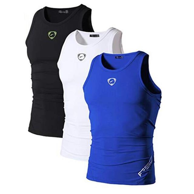 Jeansian 3 Pack Sport Tank Tops Tanktops Sleeveless Shirts Running Grym Workout Fitness Slim Compression LSL3306 2
