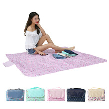 Outdoor Waterproof Picnic Mat Camping Summer Beach Multifunctional Compact Portable Oxford Cloth