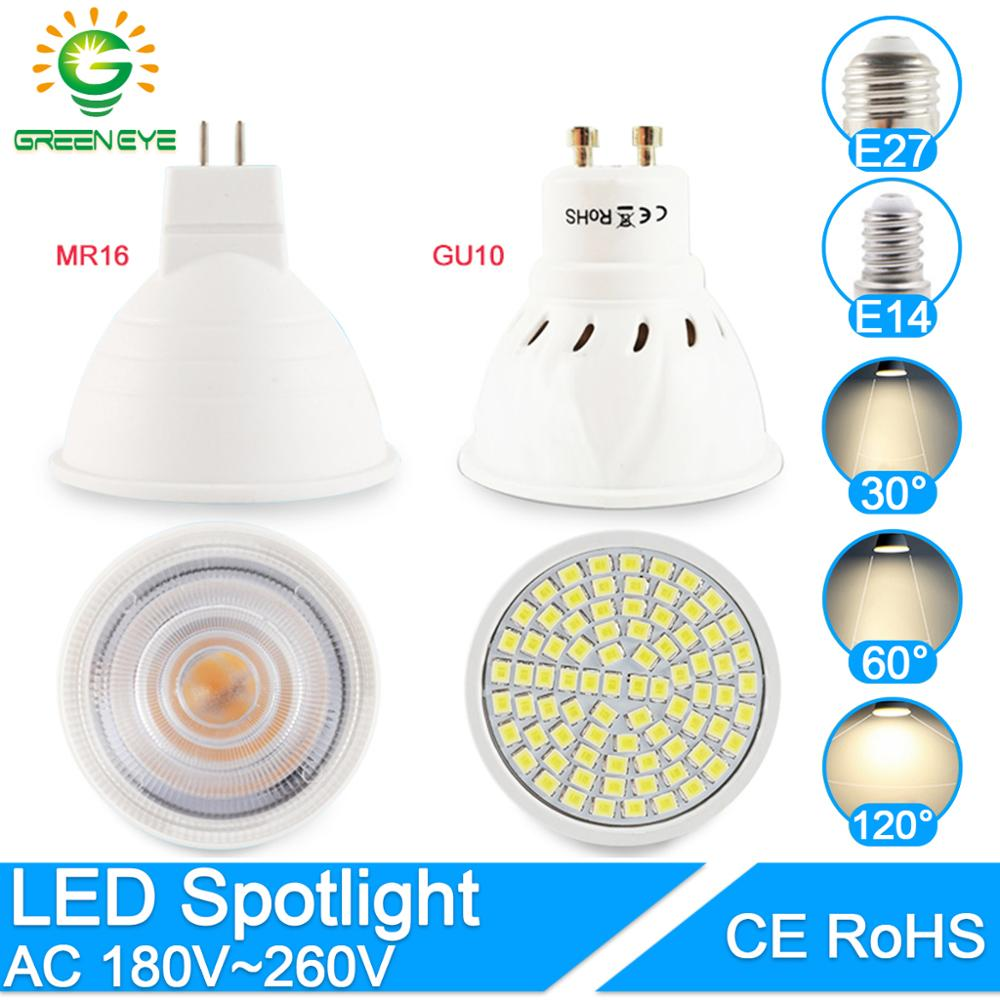 Dimmable LED Spotlight MR16 E27 GU10 E14 Led Lamp 6W 7W 8W AC12V 220V 240V Spot LED Bulb Light Lampada Bombillas Cold Warm White
