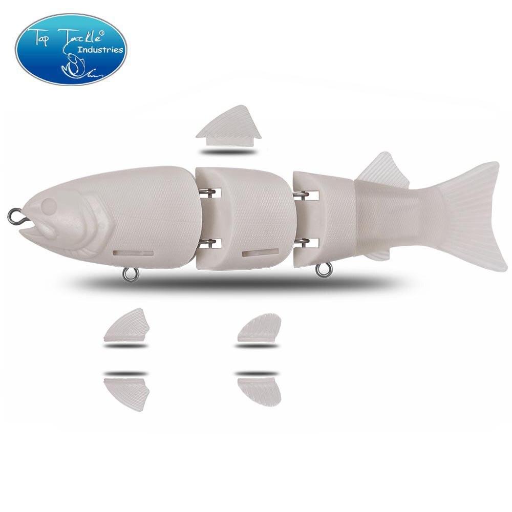 Cf Lure 215mm 140g Unpainted Lure Slow Sinking Jointed Hard Bait Swimbaits Big Bass Fishing Segments Lure