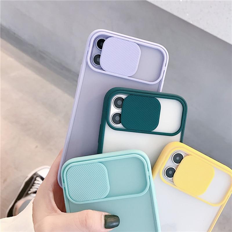 M3C Slide Lens Window Case For iphone 11 12 Pro Max Soft Case for iphone 7 8 Plus XS Max XR X SE 2020 Phone Cover Back Cases