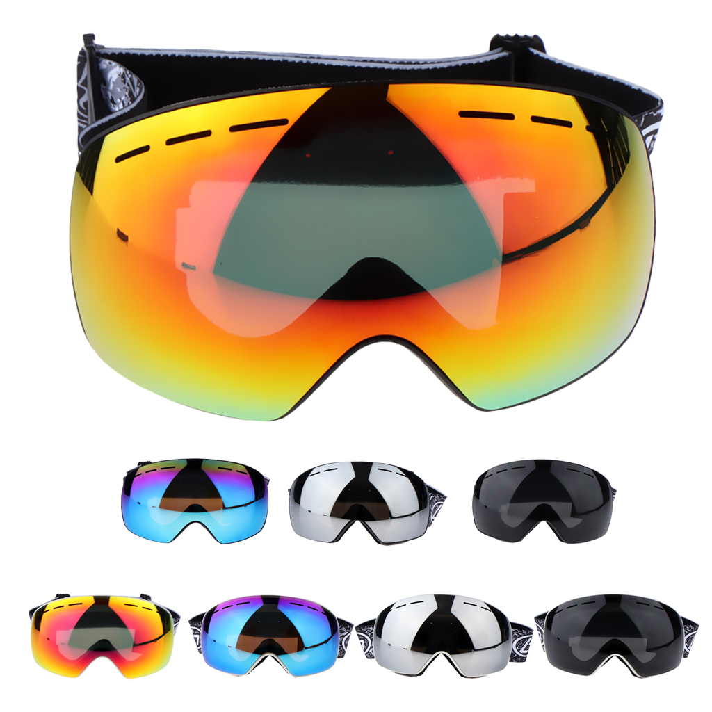 Ski Goggles Double Layers Anti-Fog Snowboard Skiing Glasses Snowboard Goggles Glasses Snow Skiing Glasses Anti-fog Ski Mask