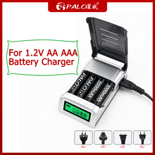 PALO 4 슬롯 LCD 디스플레이 지능형 배터리 충전기 1.2V AA AAA NIMH 배터리 충전기 원격 제어 마이크 카메라