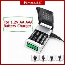 PALO 4 sloty wyświetlacz LCD inteligentna ładowarka baterii do 1.2V AA AAA NIMH ładowarka do kamery mikrofonowej zdalnego sterowania