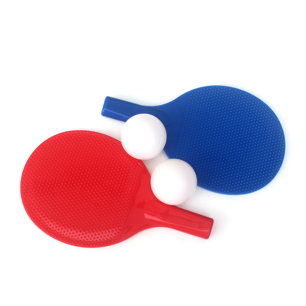 Table Tennis Racket Set Plastic School Home Fitness Entertainment Kids Toys Indoor Outdoor Gift Beginners Students With 2 Balls