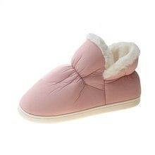 Зимние ботинки; Женские домашние ботинки из хлопка; Теплая обувь